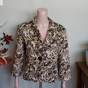 Neiman Marcus one button blazer